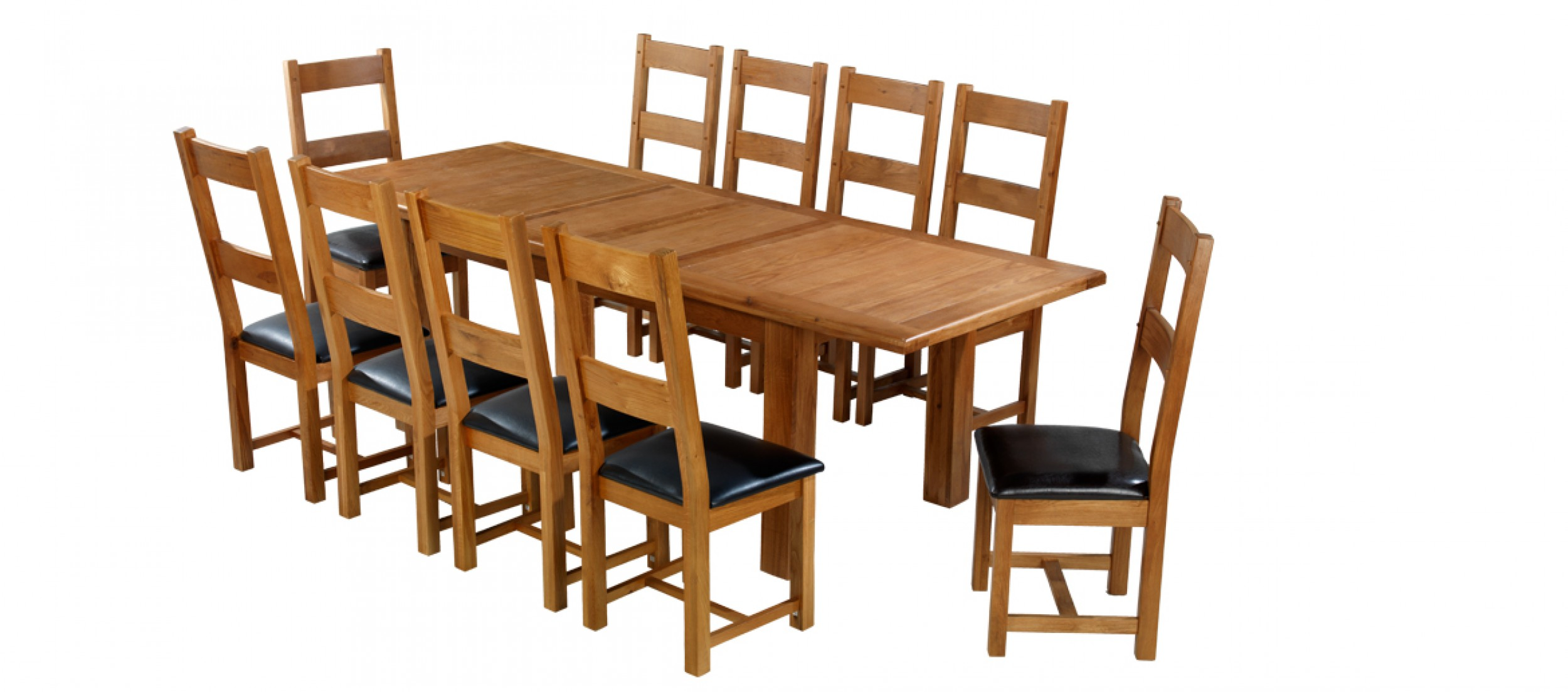 10 chair dining table set cover hire tyne and wear barham oak 180 250 cm extending chairs quercus living