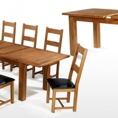 Large Round Oak Dining Table 8 Chairs Outside Rocking Barham 180 250 Cm Extending And