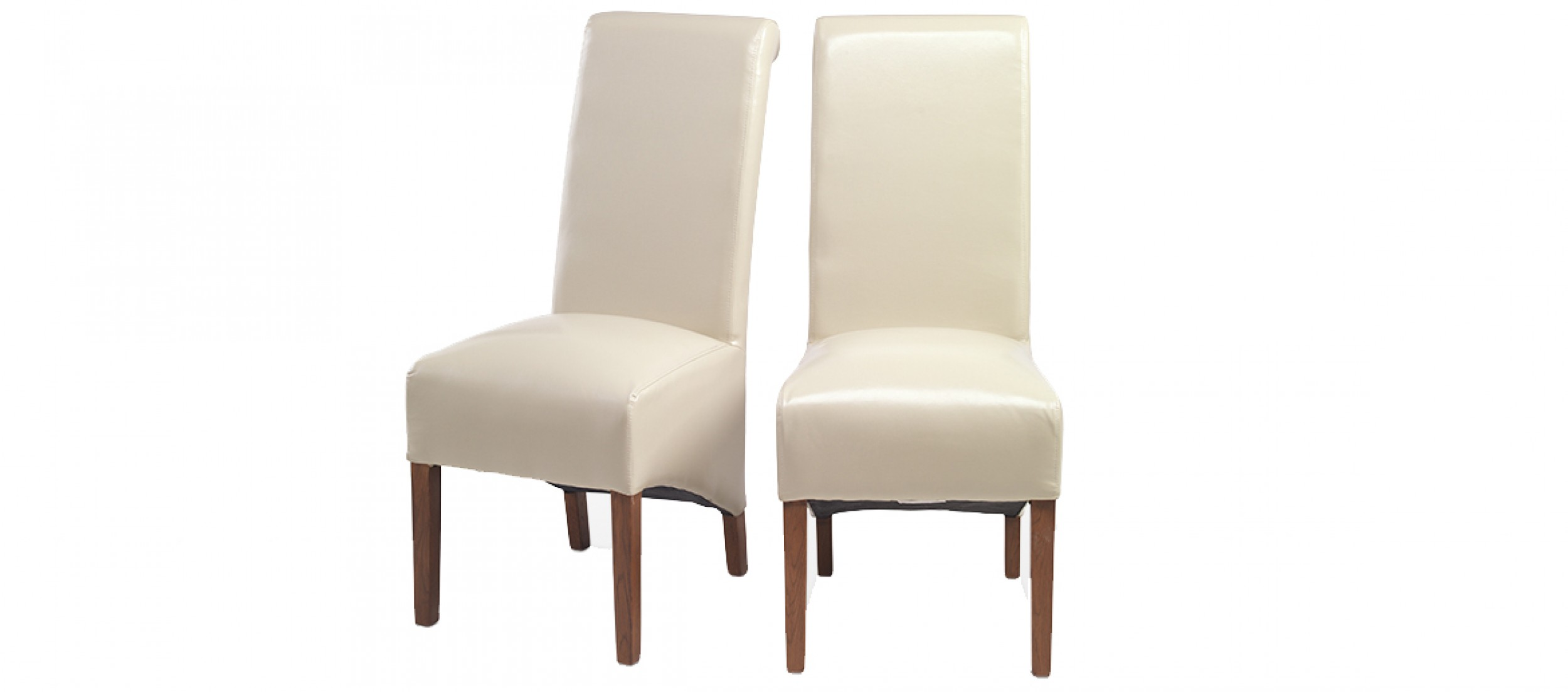beige leather dining chairs toddler booster high chair cube bonded pair quercus