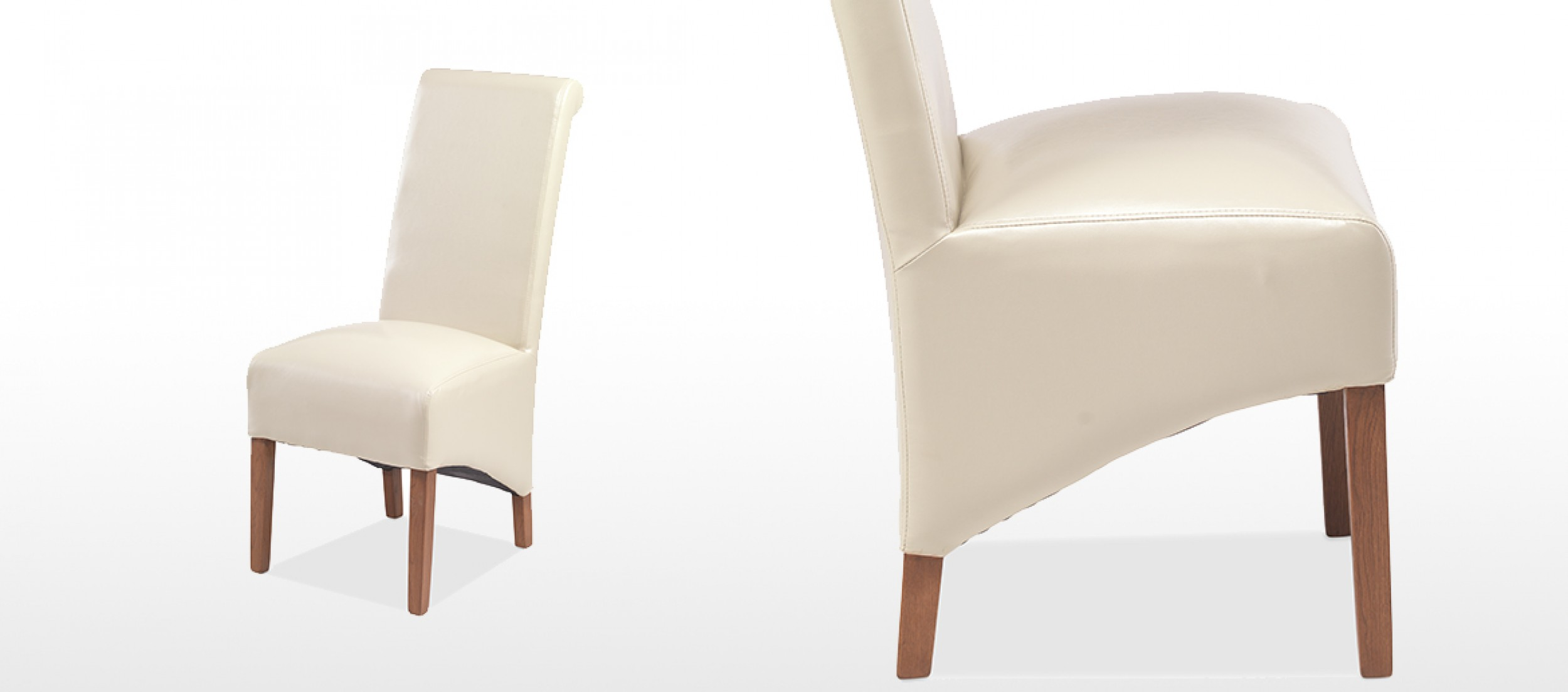 beige leather dining chairs desk chair gold coast cube bonded pair quercus