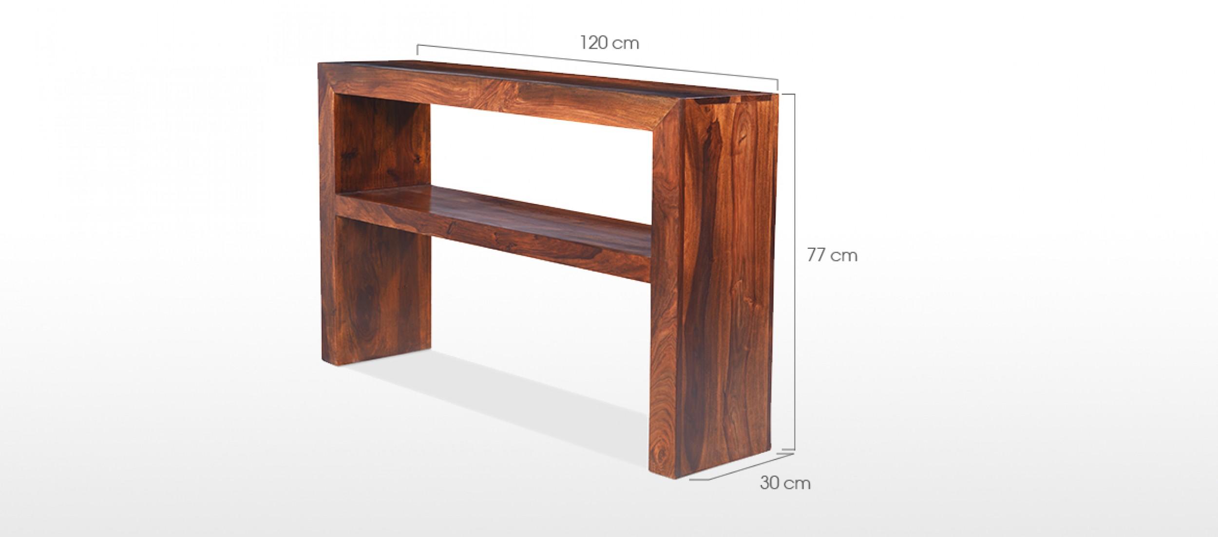 standard sofa table length fulton bed cube sheesham console quercus living