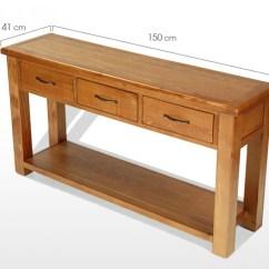 Standard Sofa Table Length Modern Leather Loveseat Barham Oak Large Console Quercus Living