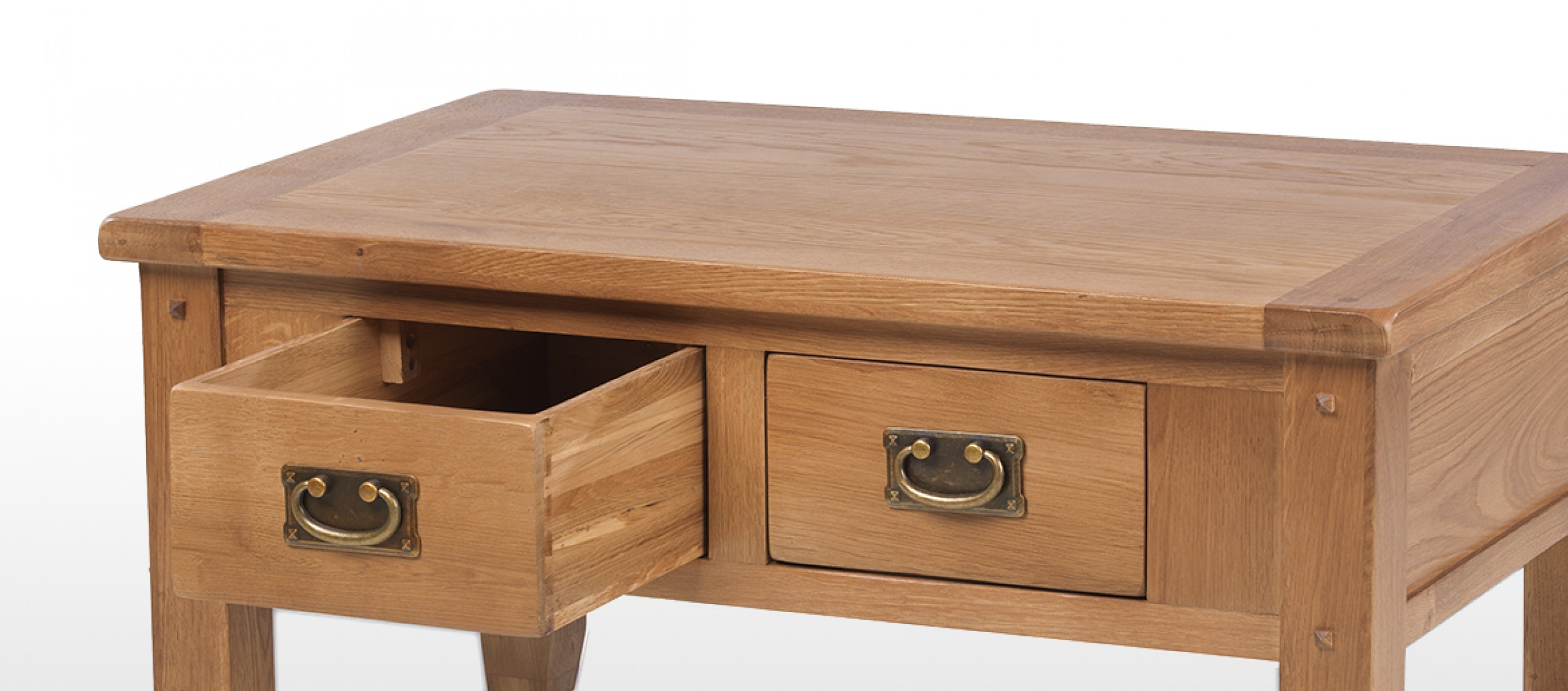 Rustic Oak Small 2 Drawer Coffee Table