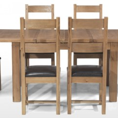 Oak Dining Set 6 Chairs Chair With Speakers And Fridge Rustic 132 198 Cm Extending Table Quercus