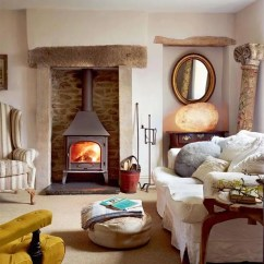 Country Cottage Living Room Decor Ideas With Wood Stove 7 Steps To Creating A Style Quercus