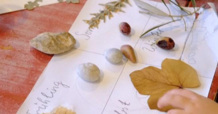Jahresrückblick für Kinder: Mit Naturmaterialien das vergangene Jahr in Erinnerung rufen