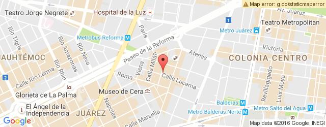 Restaurante CENTRAL DE PIZZA LUCERNA COMEDOR en Zona Rosa