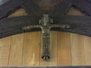Crucifix over rood screen