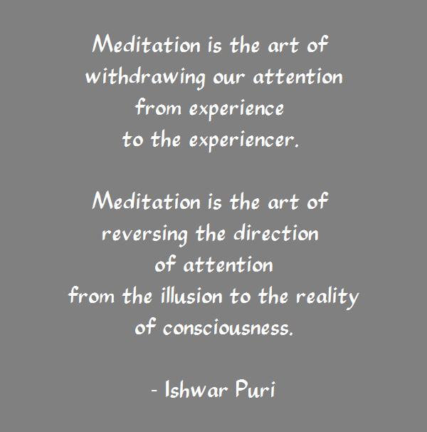 Ishwar Puri - Meditation