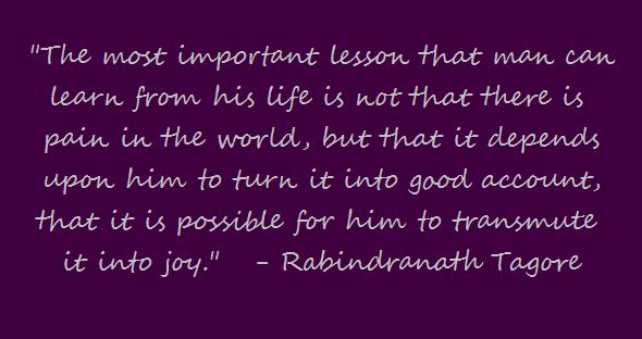 Transmute it into Joy