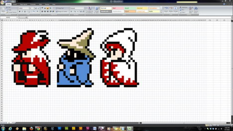 25 Drawings And Games Made With Microsoft Excel Quertime
