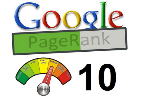 An image showing page rank