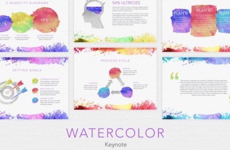 watercolor-keynote-template