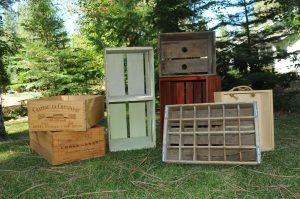 Wood crates, Assorted sizes $5-$10