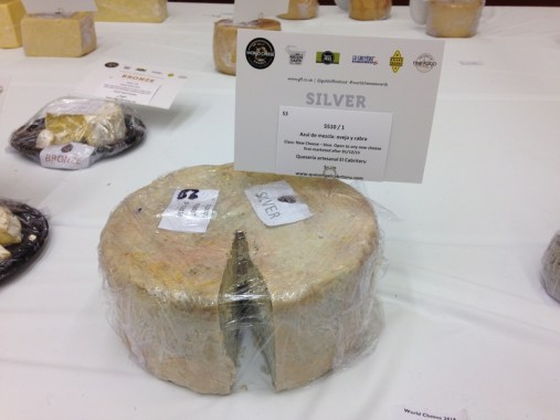 El Cabriteru silver medal World Cheese Awards