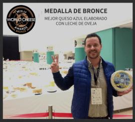 Queso azul leche de oveja premio bronce mejor queso azul elaborado con leche de oveja World Cheese Awards El Cabriteru