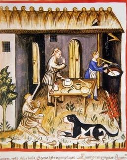 Tacuinum Sanitatis el queso en la Edad media