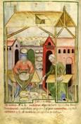 Fabricación de queso en la Edad Media