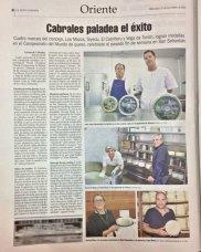 nota de prensa queso premiado El Cabriteru