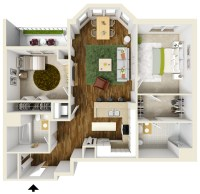 Two Bedroom Apartment Floor Plans | Queset Commons
