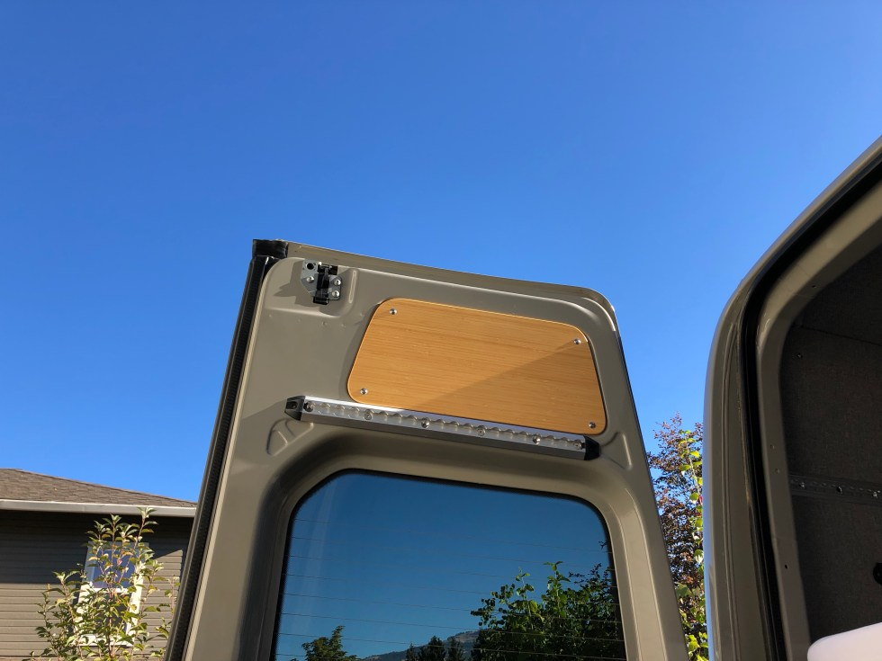 L-Track rear doors sprinter van