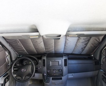 Sprinter van window covers for cabin