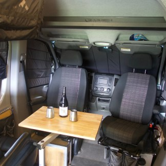 Sprinter van interior with window covers