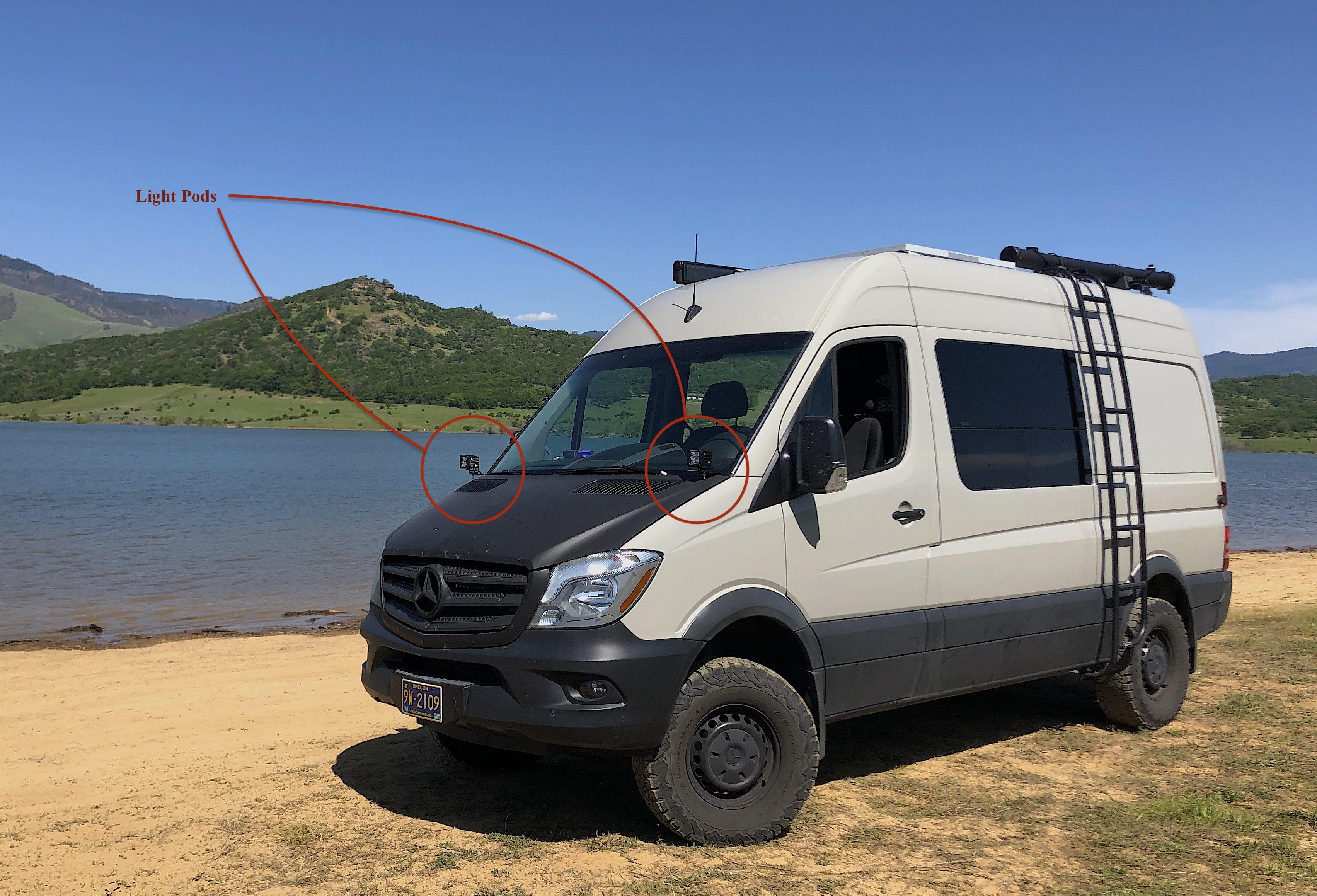 Installing LED light pods on your Sprinter van - Quest Overland