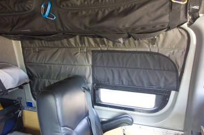 NCV3 Sprinter van window cover opposite sliding door with vent