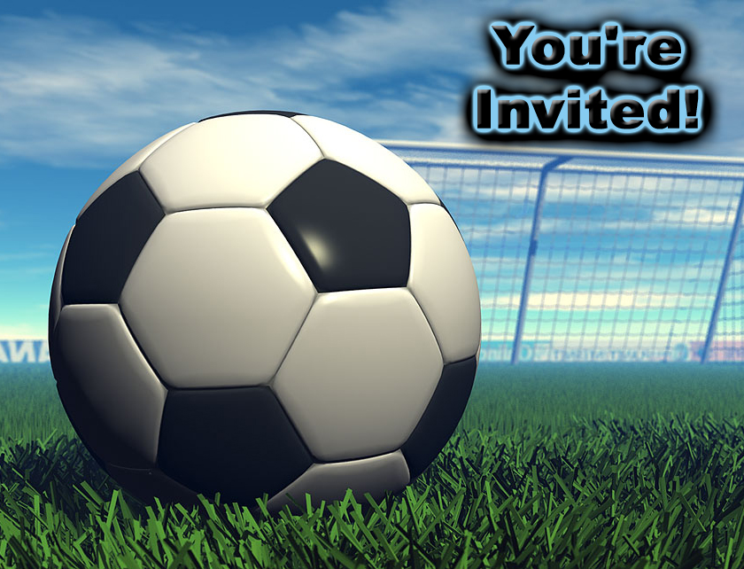 Free Soccer Theme Party Invitations