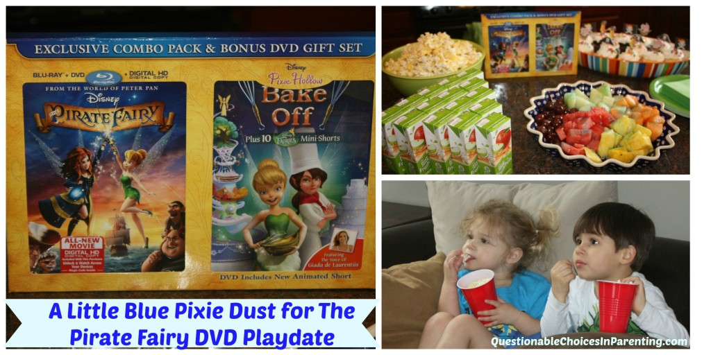 A Little Blue Pixie Dust for the Pirate Fairy DVD Playdate