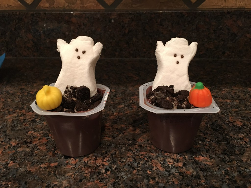 Spooky Graveyard Pudding Cups