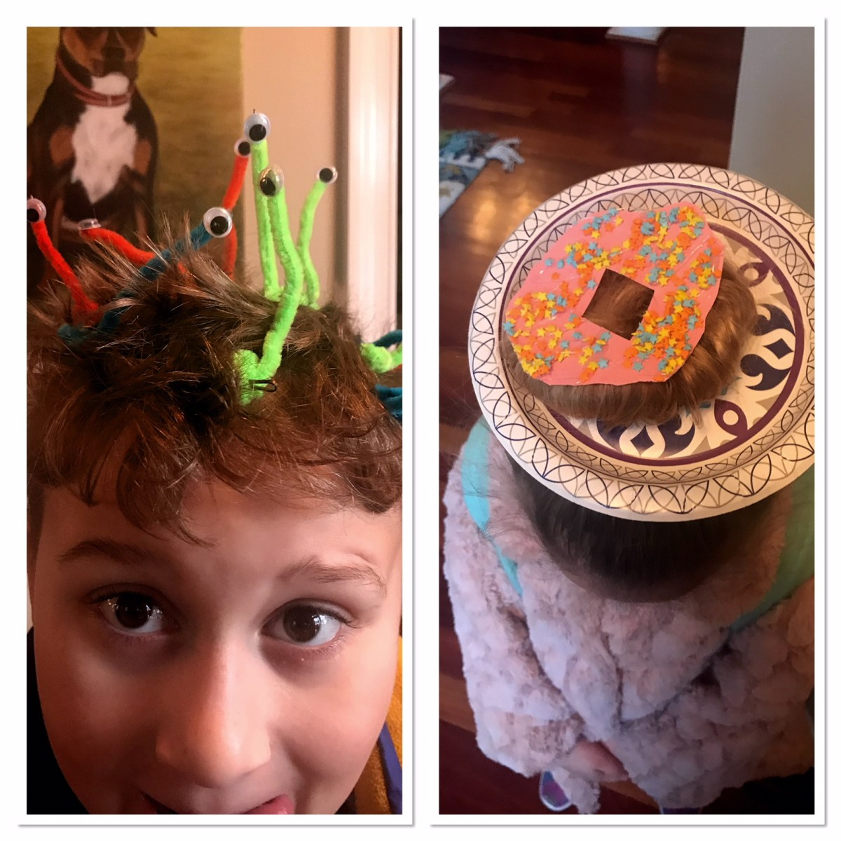 Crazy Hair Day--Donuts and One Eyed Monsters