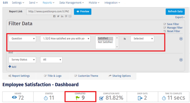 Filter Survey Results in New Dashboard Filters