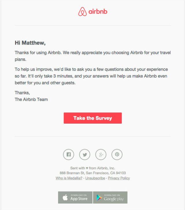 encuesta por correo electrónico