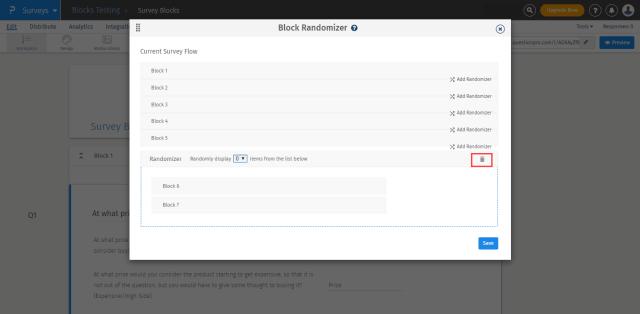 reset block randomizer