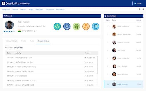 interfaz de usuario del portal