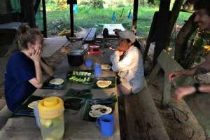 Breakfast in the Bolivian Amazon