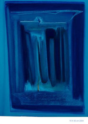 Indigo Pt.1 - Acrylique sur toile marouflée 70x90, 2004