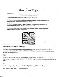 Mass Vs Weight Worksheet Free Worksheets Library ...
