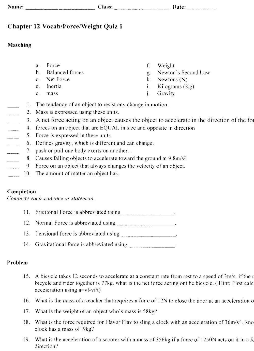 medium resolution of Quia - Class Page - wootenpscience