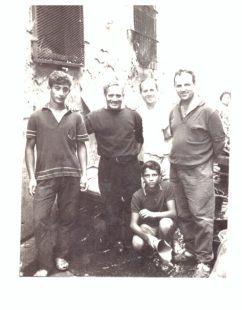 Da sinistra, Procolo Petrungaro e suo padre Salvatore (fine anni '60)