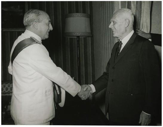 Sandro Pertini, presidente della Camera, riceve Virgilio Spigai (1968)