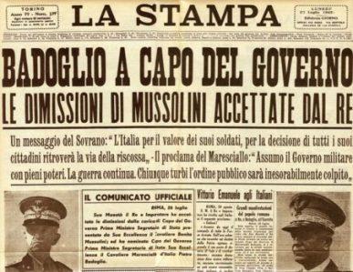 La Stampa del 23 luglio 1943