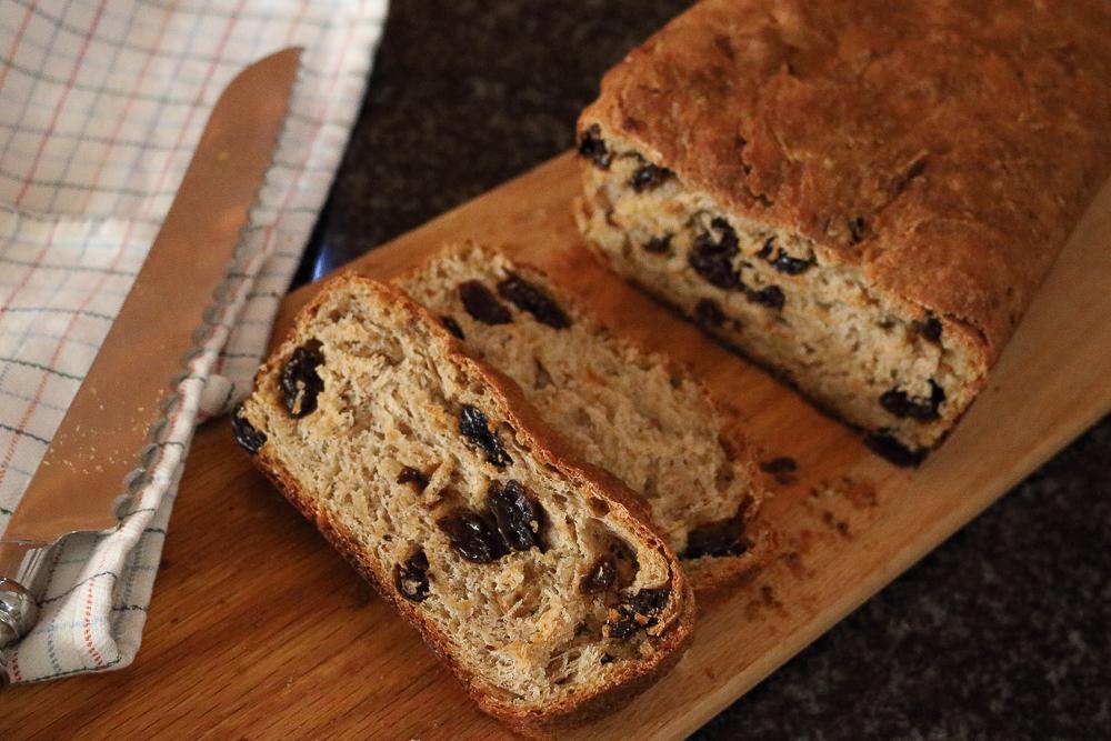 Whole Wheat Cinnamon Raisin Bread