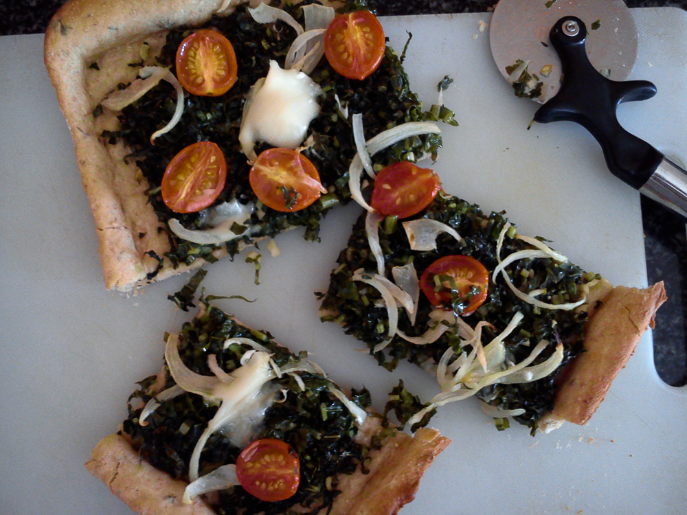 Whole Wheat Spinach and Tomato Flatbread