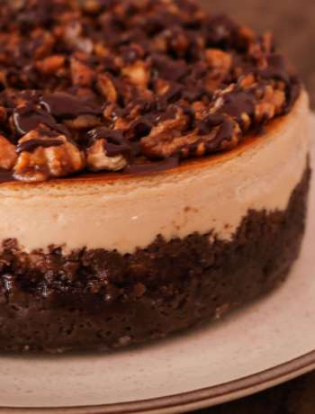 Cappuccino Cheesecake With Salted Walnut Praline / www.quichentell.com