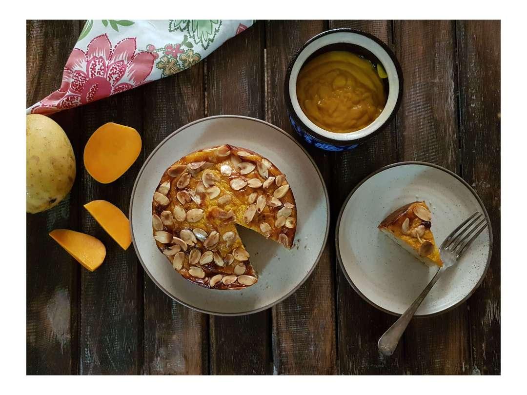 Almond Mango Cake / www.quichentell.com