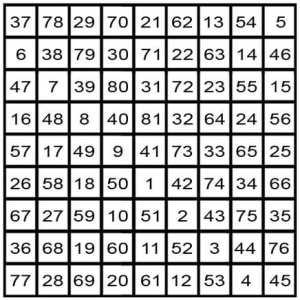 magic square for the moon