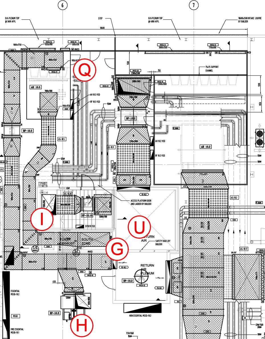 hight resolution of  air handling unit plantroom null